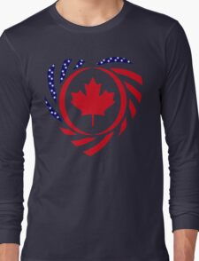 Canadian American Multinational Patriot Flag Series 2.0 Long Sleeve T-Shirt