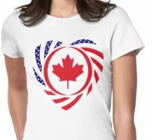 Canadian American Multinational Patriot Flag Series 2.0 Womens Fitted T-Shirt