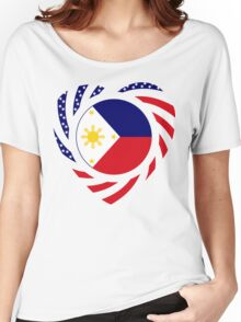 Filipino American Multinational Patriot Flag Series 2.0 Women's Relaxed Fit T-Shirt