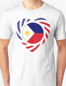 Filipino American Multinational Patriot Flag Series 2.0 Unisex T-Shirt