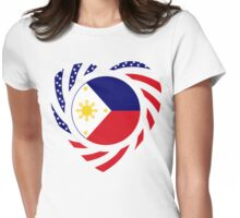 Filipino American Multinational Patriot Flag Series 2.0 Womens Fitted T-Shirt