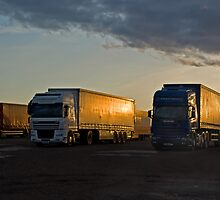 Sleeping Trucks by Panalot