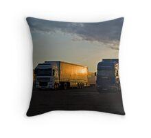 Sleeping Trucks Throw Pillow