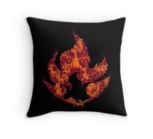 PokeDoodle - Fire Throw Pillow
