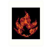 PokeDoodle - Fire Art Print