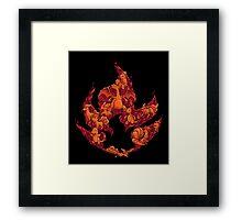 PokeDoodle - Fire Framed Print