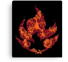 PokeDoodle - Fire Canvas Print