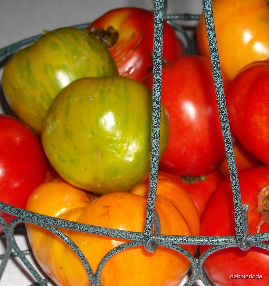 Basket of Tomatoes by debbiedoda