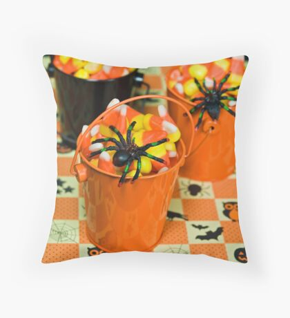 Corn Candy Creepers Throw Pillow