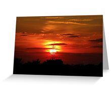 Sunset 01 29-09-09 Greeting Card