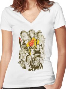 Tarantino Collection Women's Fitted V-Neck T-Shirt