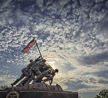 Iwo Jima Memorial Sunrise by mkurec