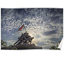 Iwo Jima Memorial Sunrise Poster
