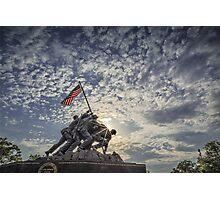 Iwo Jima Memorial Sunrise Photographic Print