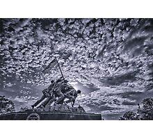 Iwo Jima Memorial Sunrise Cyanotype Photographic Print