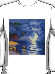 Moonlight and roses-  Art + Products Design  T-Shirt