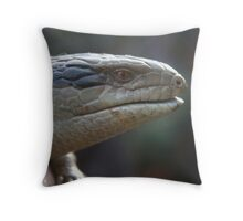 Blue Tongue Throw Pillow