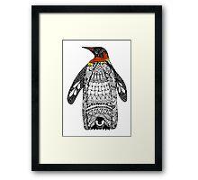 Zentangle Penguin Framed Print