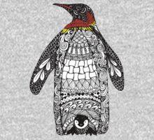Zentangle Penguin Baby Tee
