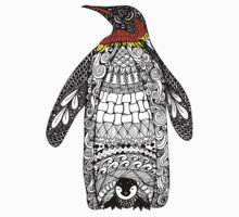 Zentangle Penguin One Piece - Short Sleeve