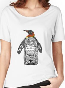 Zentangle Penguin Women's Relaxed Fit T-Shirt
