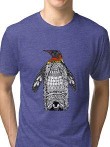 Zentangle Penguin Tri-blend T-Shirt
