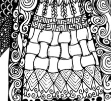 Zentangle Penguin Sticker