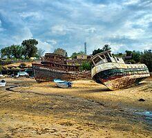 Abandoned Boats San Felipe by Hugh Smith