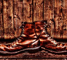Old Boots Fine Art Print by stockfineart