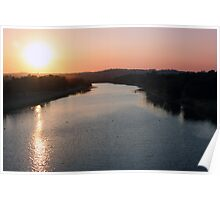 Barwon River Geelong on sunset.  Poster