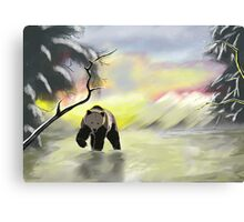 Bear in the snow Canvas Print