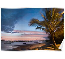 Broadwater sunset Poster