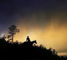 Evening Trail Ride by Ken Fortie