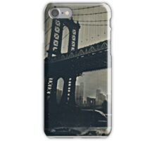 Manhattan Bridge Tintype Photography iPhone Case/Skin