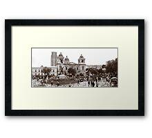 Plaza Murillo Framed Print