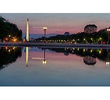 National Mall at Night Photographic Print