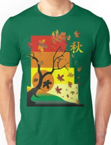 Fall - Autumn Scene with Chinese  Unisex T-Shirt