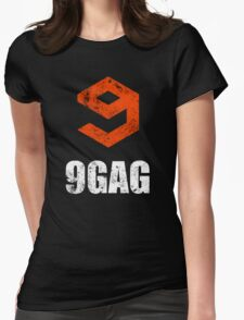 9gag black Womens Fitted T-Shirt