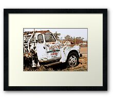 Route 66 Tow Truck Framed Print