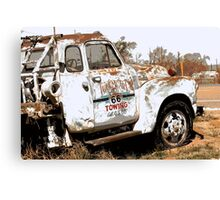 Route 66 Tow Truck Canvas Print