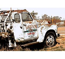Route 66 Tow Truck Photographic Print