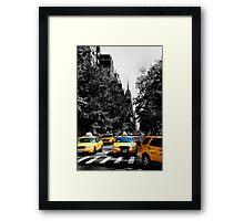 TAXI! Framed Print