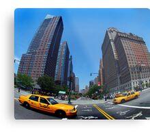 Fifth Avenue Taxi Metal Print
