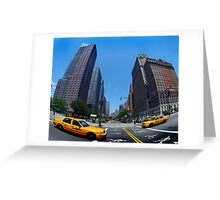 Fifth Avenue Taxi Greeting Card