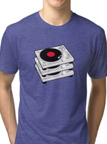 GRAMOPHONES RECORD PLAYERS Tri-blend T-Shirt
