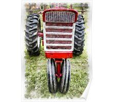 Vintage International Harvester Tractor Poster