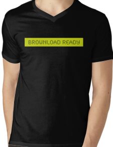 LCD: Brownload Ready, Funny Mens V-Neck T-Shirt
