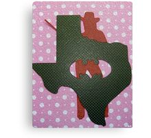 Cowgirl of Texas Canvas Print