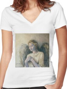 Angel (14) Women's Fitted V-Neck T-Shirt