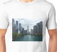 Chicago Skyline with water view Unisex T-Shirt